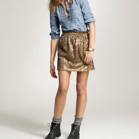 1ec21b4e3e J. Crew Dresses & Skirts - J.Crew gold sequined mini skirt